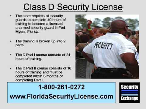 Florida Class D Security License Fort Myers