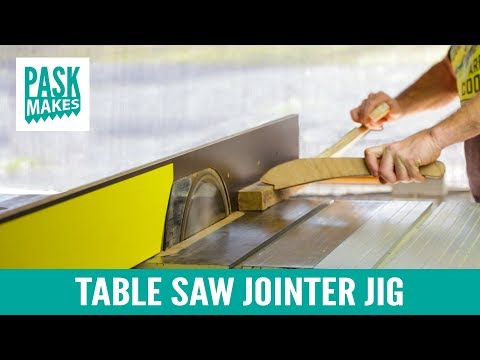 Table Saw Jointer Jig - Easy to Make