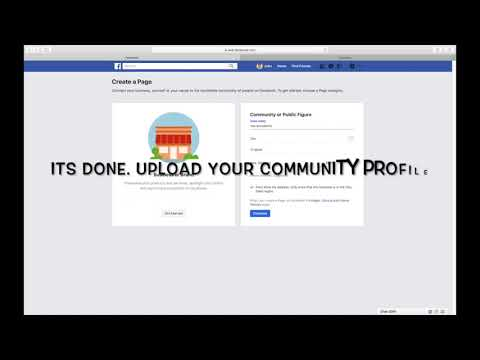HOW TO CREATE A COMMUNITY OR PUBLIC FIGURE PAGE ON FACEBOOK UPDATED