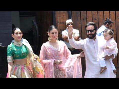 Xxx Mp4 Kareena Kapoor Karisma Kapoor Saif Ali Khan With Baby Taimur Arrive For Sonam Kapoor's Wedding 3gp Sex