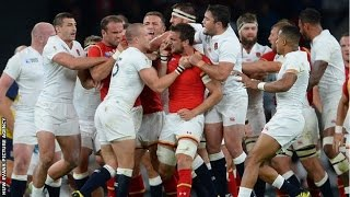 Dan Lydiate's tackle leads Mike Brown and Sam Warburton scruffle