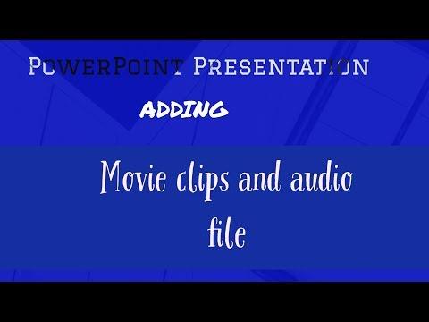 PowerPoint: Adding audio l Favorite files l Add movie clips [ Bangla Tutorial ]