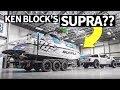 Ken Block's Raptor Powered... Supra?? Plus, Indoor Burnout!