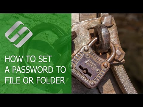 How to Set a Password to File or Folder in Windows 10, 8 or 7 🔐📂💻
