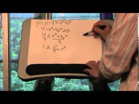 Domain and Range of two variable functions by Chris LaTourette