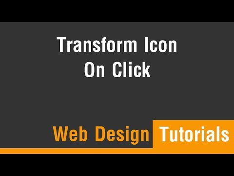 Arabic Tutorials - Transform Icons and Elements On Click Or Hover
