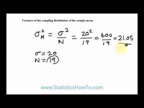 variance of the sampling distribution of the sample mean