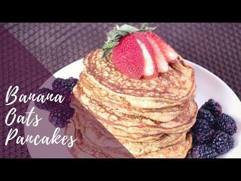 Banana Oats Pancakes - How to make Healthy Banana Oats Pancakes