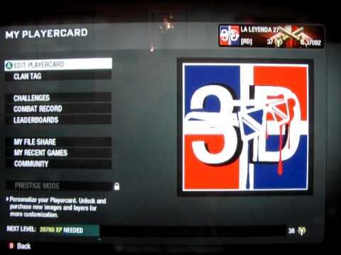 BEST EVER! 3D Dominican Flag Black Ops Emblem [Tutorial]