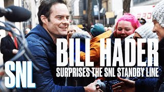 Bill Hader Surprises the Standby Line with SNL Tickets