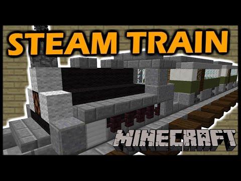 [1.8 Vanilla Minecraft] Moving STEAM TRAIN!
