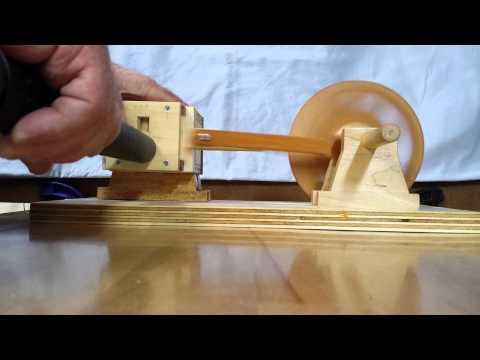 Wooden air engine.