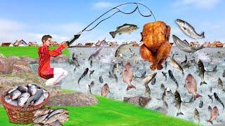 चिकन मछली पकड़ना Chicken Fishing Wala Comedy Video हिंदी कहानियां Hindi Kahaniya Funny Comedy Video