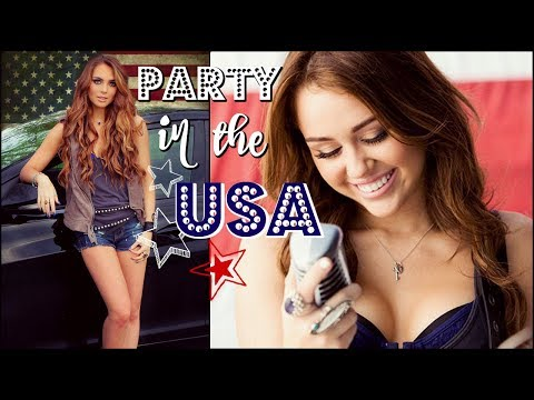Miley Cyrus Inspired Party In The USA Makeup & Curly Hair Tutorial  | GRWM