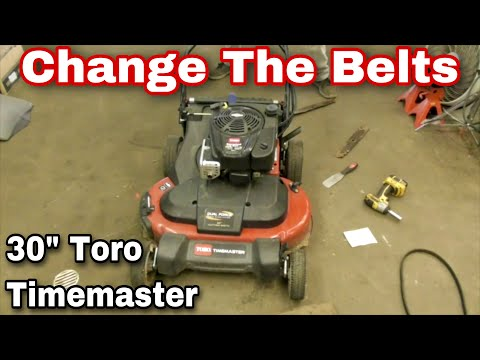 How To Change The Belts On A Toro 30