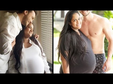 Salman Khan's sister Arpita Khan Sharma's PREGNANCY Photoshoot with husband Ayush Sharma