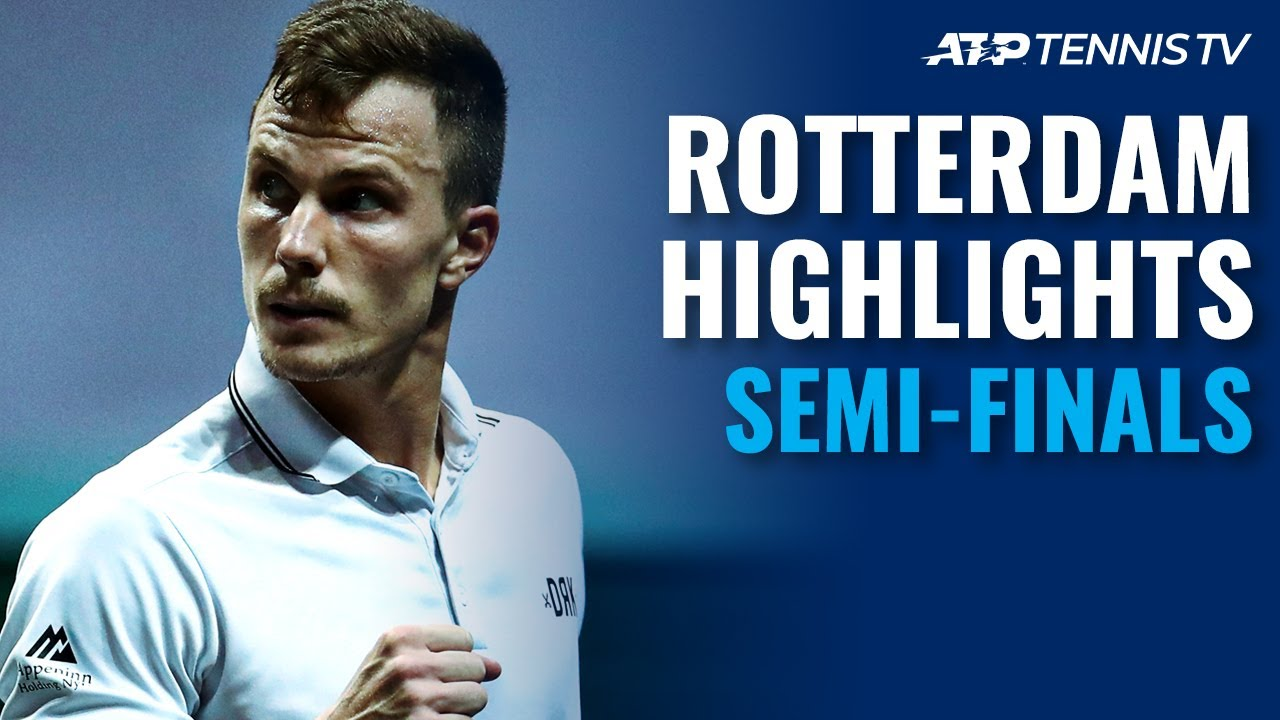 Rublev vs Tsitsipas; Coric vs Fucsovics   Rotterdam 2021 Semi-Final Highlights