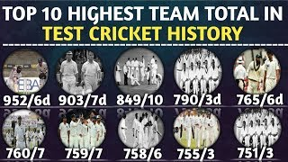 Top 10 Highest Team Total In Test Cricket History   Highest Team Score in Test Inning by The Team