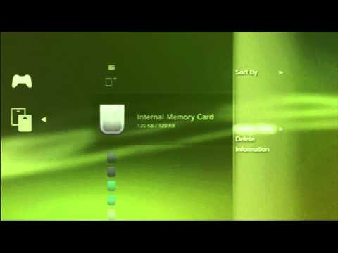 How to Create a Digital PS1 & PS2 Memory Card & how to select slot for PS3