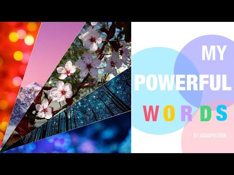 MY POWERFUL WORDS (AntiBullying and Motivation Poem)