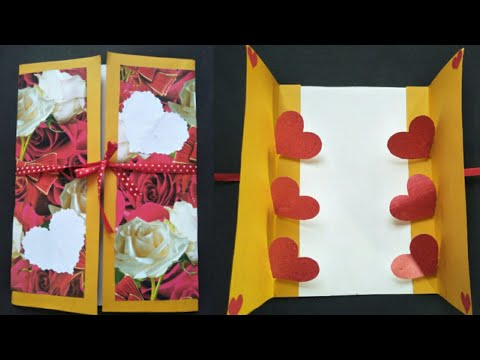 DIY Heart Popup Card   Valentine Card tutorial   How to make Heart Popup card at home