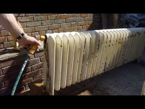 Flushing through an old school radiator