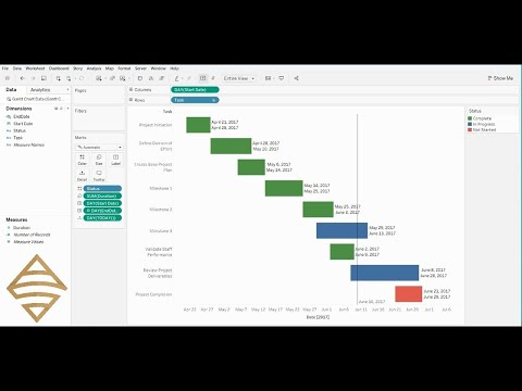 Create a Gantt Chart in Tableau