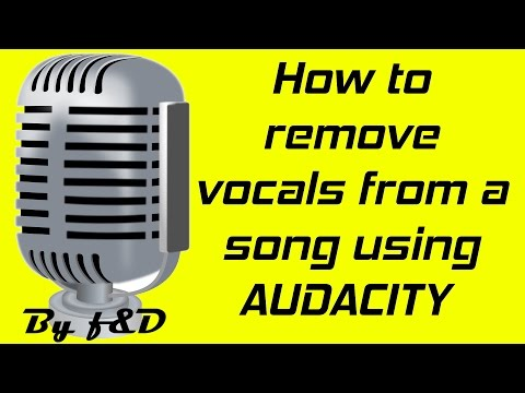 How to remove vocals from a song using audacity v 2.1.2