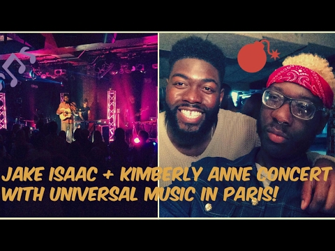 Jake Isaac + Kimberly Anne concert with Universal Music in Paris VLOG