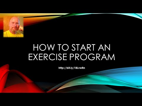 How To Start An Exercise Program - Ask Yourself 3 Questions!