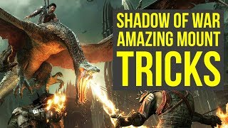 Shadow of War Gameplay AMAZING MOUNT TRICKS You Can Do! (Middle Earth Shadow of War gameplay)