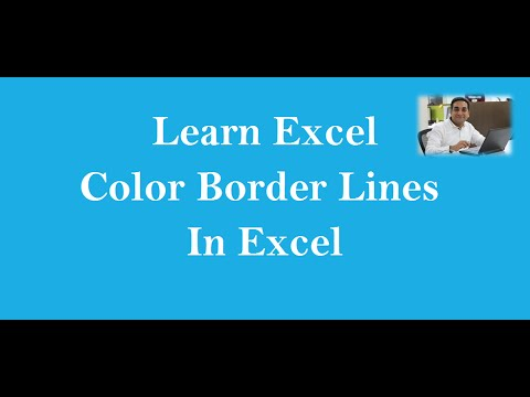 Change Color Of Border line In Excel Hindi