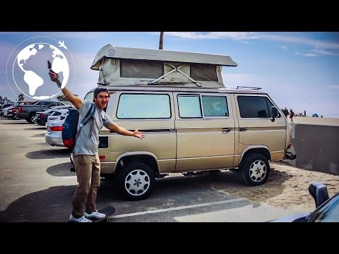 Skateboarder Living in a VW Syncro in Los Angeles