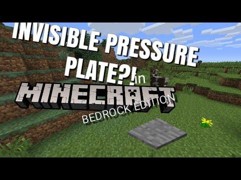 INVISIBLE PRESSURE PLATE IN MCPE!? 2018 [] [] Minecraft PE Redstone Tutorials