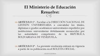 Convalidación de Títulos Universitarios para venezolanos en Argentina