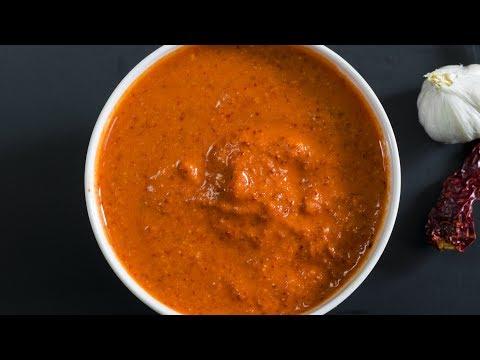 Red Chutney for Masala Dosa