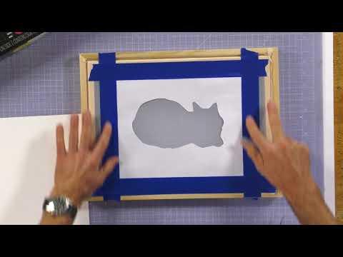 Cut Paper Stencil Method