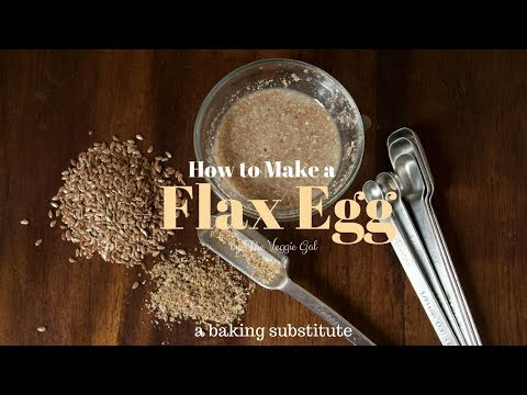 How to Make Flax Eggs (a baking substitute)