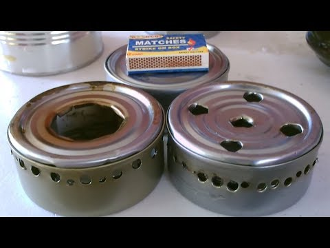 DIY Tuna-Can Alcohol Stoves! - {5 stoves!} {3 fuels!} ~ designing/building/experimenting