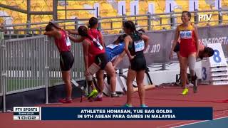 SPORTS NEWS: Athletes Honasan, Yue bag golds in 9th ASEAN Para Games in Malaysia