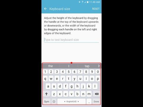 How To Change Keyboard Size Larger On Samsung Galaxy S7/Edge/S6/Note5/Note4