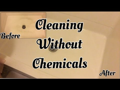 Cleaning without chemicals - tub/shower