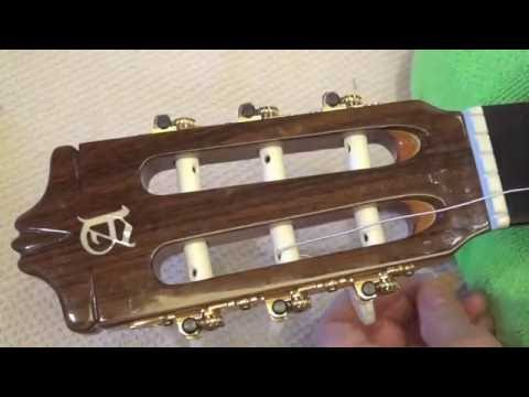 How to Restring your Classical Guitar - Changing Nylon Strings Classical Guitar