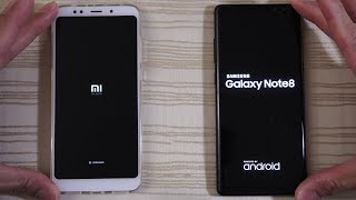 Xiaomi Redmi 5 Plus vs Galaxy Note 8 - Speed Test!