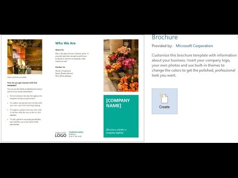 How to Create a Brochures Using Word 2013/2016