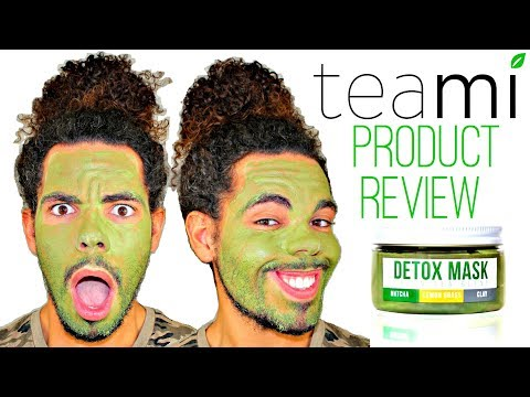 How To DETOX Your Face With Organic Teami Green Tea Mask Product Review Tutorial