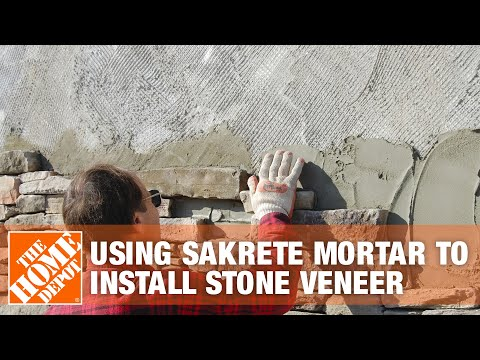 How to Use Sakrete Mortar to Install Stone Veneer - The Home Depot