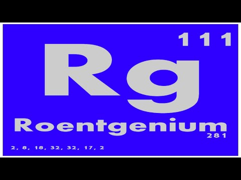 STUDY GUIDE: 111 Roentgenium | Periodic Table of Elements