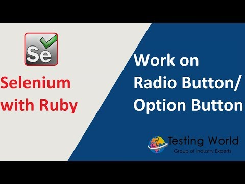 Selenium with Ruby - Session 9: Work with Radio button