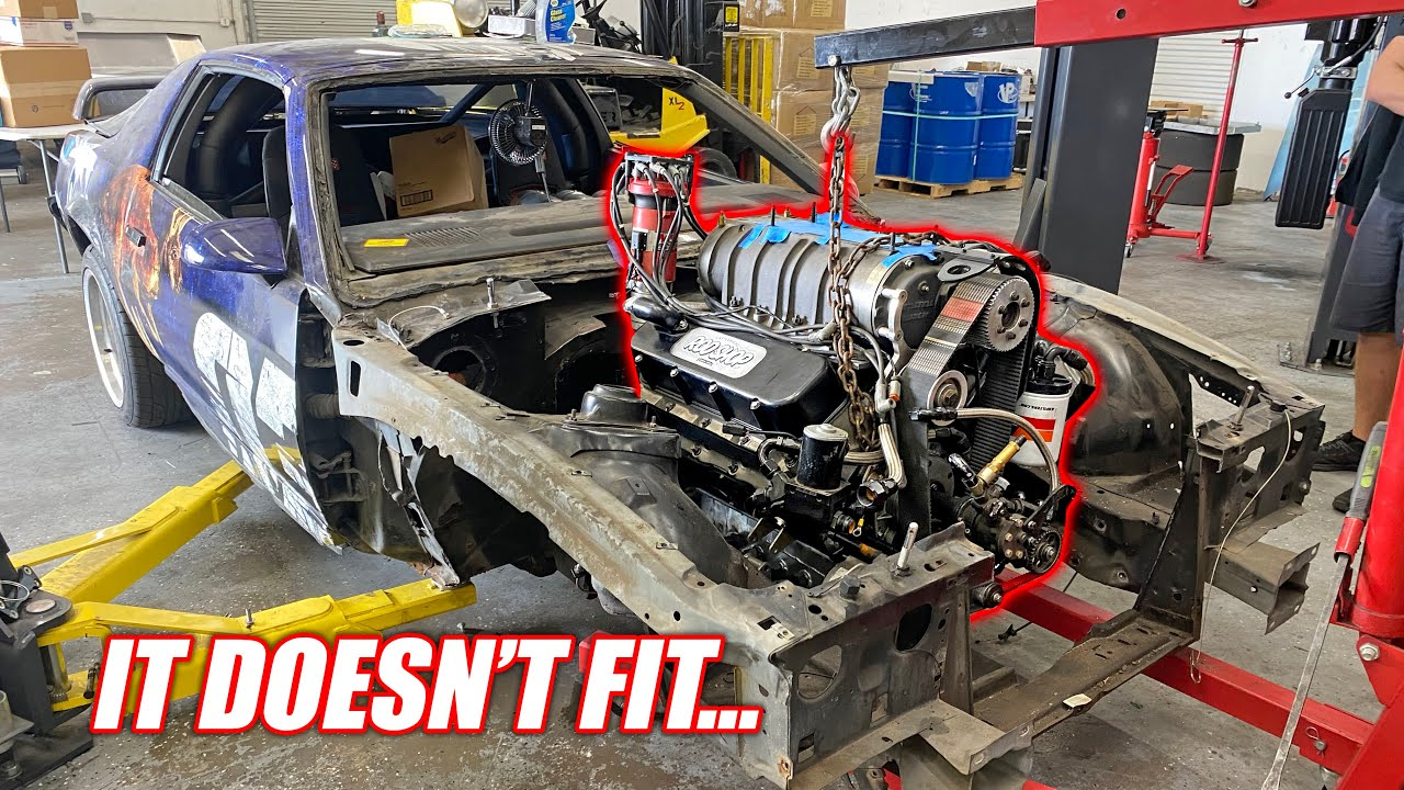 Toast's NEW 1,500hp Supercharged Big Block is WAY TOO BIG!!! (Chopping the Front End Off)